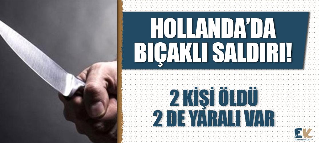 Hollanda'da bıçaklı saldırı: 2 ölü, 2 yaralı