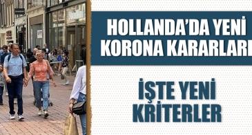 Hollanda'dan yeni korona kuralları! İşte yeni kriterler