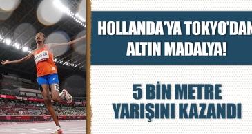 Hollanda'ya Tokyo'da altın madalya! 5 bin metre yarışı kazandı